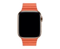 Apple Opaska skórzana pomarańczowa  do koperty 44 mm M - 487994 - zdjęcie 2