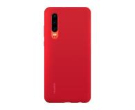 Huawei Silicone Case do Huawei P30 czerwony - 484498 - zdjęcie 1