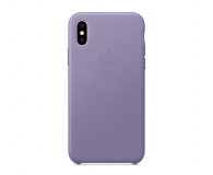 Apple iPhone XS Leather Case liliowe - 493022 - zdjęcie 1