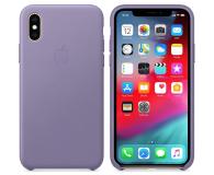 Apple iPhone XS Leather Case liliowe - 493022 - zdjęcie 2