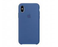 Apple iPhone XS Silicone błękitne - 493021 - zdjęcie 1