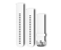 Garmin Pasek silikonowy biało-srebrny do koperty 20mm - 490335 - zdjęcie 1