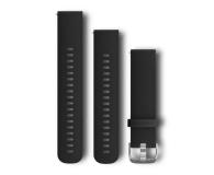 Garmin Pasek silikonowy czarno-srebrny  - 490332 - zdjęcie 1