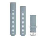 Garmin Pasek silikonowy turkusowo-srebrny  - 490345 - zdjęcie 1