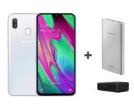 Samsung Galaxy A40 White +Creative Roar+PowerBank10000mAh  - 496716 - zdjęcie 1