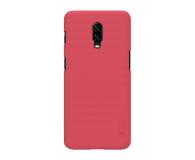 Nillkin Super Frosted Shield do OnePlus 6T czerwony - 497117 - zdjęcie 1