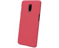 Nillkin Super Frosted Shield do OnePlus 6T czerwony - 497117 - zdjęcie 3