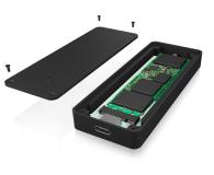 ICY BOX Obudowa do dysku M.2 SATA SSD (USB-C) - 499600 - zdjęcie 4