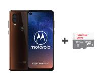 Motorola One Vision 4/128GB DS brązowy + etui + 128GB - 505789 - zdjęcie 1