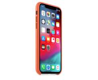 Apple iPhone XS Leather Case oranż - 506274 - zdjęcie 3