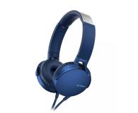 Sony MDR-XB550AP Niebieskie - 507495 - zdjęcie 1