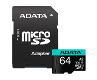 ADATA 64GB Premier Pro U3 V30S A2 + adapter  - 512448 - zdjęcie 2