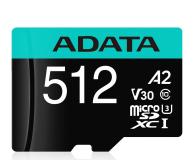 ADATA 512GB microSDXC Premier Pro 100MB/s U3 V30S A2 - 512451 - zdjęcie 1
