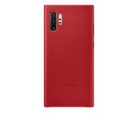 Samsung Leather Cover do Galaxy Note 10+ czerwony - 508393 - zdjęcie 1