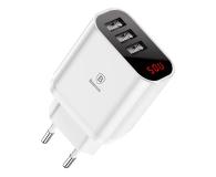 Baseus Ładowarka sieciowa 3x USB, 2.4A (biały) - 509254 - zdjęcie 1