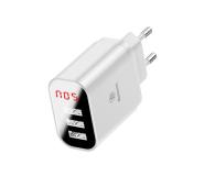 Baseus Ładowarka sieciowa 3x USB, 2.4A (biały) - 509254 - zdjęcie 3
