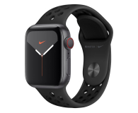 Apple Watch 5 Nike 40/Space Gray/Black Sport LTE - 515916 - zdjęcie 1