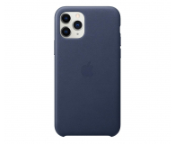 Apple Leather Case do iPhone 11 Pro Midnight Blue - 514617 - zdjęcie 1