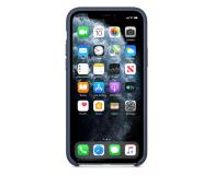 Apple Leather Case do iPhone 11 Pro Midnight Blue - 514617 - zdjęcie 3