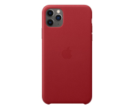 Apple Leather Case do iPhone 11 Pro Max (PRODUCT)RED - 514619 - zdjęcie 1