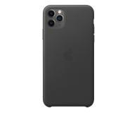 Apple Leather Case do iPhone 11 Pro Max Black - 514621 - zdjęcie 1