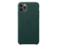 Apple Leather Case do iPhone 11 Pro Max Forest Green - 514660 - zdjęcie 1