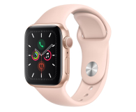 Apple Watch 5 40/Gold Aluminium/Pink Sport GPS - 515902 - zdjęcie 1