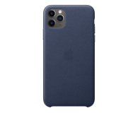 Apple Leather Case do iPhone 11 Pro Max Midnight Blue - 514622 - zdjęcie 1