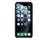 Apple Leather Case do iPhone 11 Pro Max Midnight Blue - 514622 - zdjęcie 3