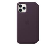 Apple Leather Folio do iPhone 11 Pro Aubergine - 514651 - zdjęcie 1