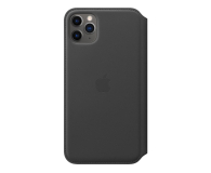 Apple Leather Folio do iPhone 11 Pro Max Black - 514629 - zdjęcie 1