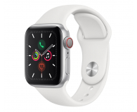 Apple Watch 5 40/Silver Aluminium/White Sport LTE - 515904 - zdjęcie 1