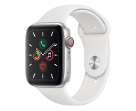 Apple Watch 5 44/Silver Aluminium/White Sport LTE - 515910 - zdjęcie 1