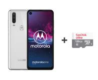 Motorola One Action 4/128GB DS biały + etui + 128GB - 515731 - zdjęcie 1