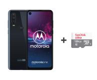 Motorola One Action 4/128GB DS granatowy + etui + 128GB - 515729 - zdjęcie 1
