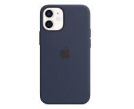 Apple Silikonowe etui iPhone 12 mini głęboki granat - 598763 - zdjęcie 1