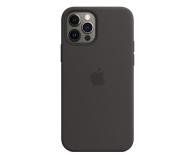 Apple Silikonowe etui iPhone 12 12Pro czarne - 598777 - zdjęcie 1