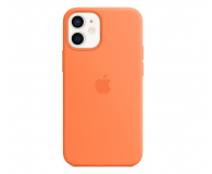 Apple Silikonowe etui iPhone 12 mini kumkwat - 598764 - zdjęcie 1