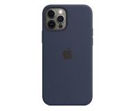 Apple Silikonowe etui iPhone 12|12Pro głęboki granat - 598772 - zdjęcie 1