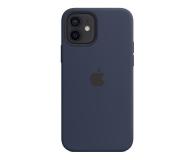 Apple Silikonowe etui iPhone 12|12Pro głęboki granat - 598772 - zdjęcie 2