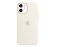 Apple Silikonowe etui iPhone 12 mini białe - 598767 - zdjęcie 1