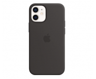 Apple Silikonowe etui iPhone 12 mini czarne - 598768 - zdjęcie 1
