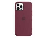 Apple Silikonowe etui iPhone 12 Pro Max dojrzała śliwka - 598779 - zdjęcie 1
