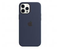 Apple Silikonowe etui iPhone 12 Pro Max głęboki granat - 598780 - zdjęcie 1