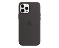 Apple Silikonowe etui iPhone 12 Pro Max czarne - 598785 - zdjęcie 1