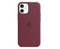 Apple Silikonowe etui iPhone 12 mini dojrzała śliwka - 598762 - zdjęcie 1