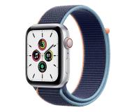 Apple Watch SE 44/Silver Aluminium/Deep Navy Sport LTE - 595345 - zdjęcie 1