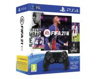 Sony PlayStation 4 DualShock 4 Black V2 + Fifa 21 - 596451 - zdjęcie 1