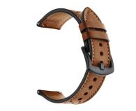Tech-Protect Pasek Leather do smartwatchy brązowy - 605305 - zdjęcie 2