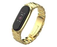 Tech-Protect Bransoleta Stainless do Xiaomi Mi Band 5/6 gold - 605432 - zdjęcie 1
